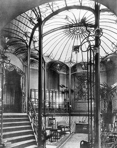 Victor Horta designed this staircase in the Art Nouveau masterpiece, the Van Eetvelde House, Brussels, Belgium.