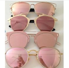"Rose-tinted sunglasses. Gives a different meaning to ""La Vie en Rose"" #rosequartz"