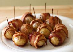 Bacon Wrapped Potato Bites