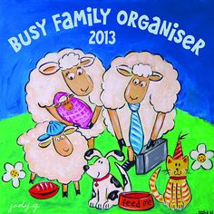 Jodi G's Busy Family Organiser Wall Calendar: Keep the whole family organized with this fun and functional calendar featuring the funky, bright, designer artwork of jody g.  http://www.calendars.com/Moms-Family/Jodi-Gs-Busy-Family-Organiser-2013-Wall-Calendar/prod201300005743/?categoryId=cat00152=cat00152