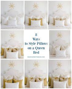 Home Decoration Ideas Wood 7 Ways to Style Pillows on Your Bed - Randi Garrett Design Throw Pillows Bed, Bed Throws, Decorative Bed Pillows, Decor Pillows, Accent Pillows, Make Your Bed, How To Make Bed, How To Dress A Bed, Bed Pillow Arrangement
