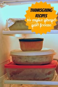 Thanksgiving Recipes to Make Ahead and Freeze - Freezer cooking can help your holiday. Choose from many Thanksgiving recipes that you can make-ahead and freeze to save time on turkey day.