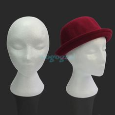 Styrofoam Foam Female Mannequins Display Head Stand Model Dummy Wig Glasses Hat. $3.93 AU