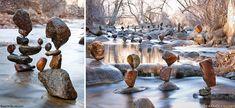 Artist Creates 23 Impossible Towers Of Balanced Rocks