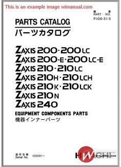 Hitachi Ex60 3 Excavator Parts Catalog pdf download. This