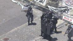 Galdino Saquarema Noticia: Hoje teve guerra no Rio em frente a Alerj RJ