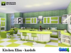The Sims Resource: Kitchen Elisa by kardofe • Sims 4 Downloads