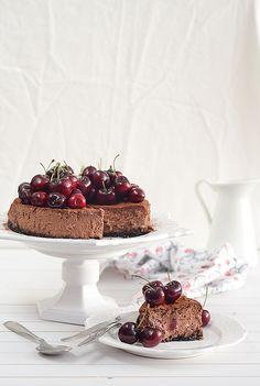 ¡Qué cosa tan dulce!: Tarta de queso y chocolate con cerezas
