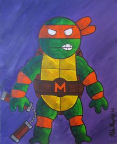 This is how I drew Ninja Turtles when I was 7 years old. Michelangelo was by far my favorite turtle!