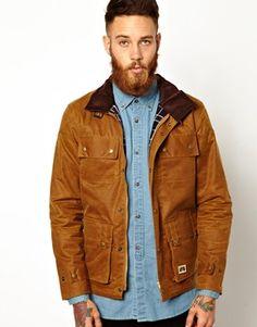 Brixtol Waxed Jacket with 4 Pockets