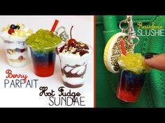 Sundae, Slushy, & Parfait Keychains - Polymer Clay, Resin & Silicone Tutorial - YouTube
