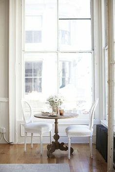I've always been attracted to the charm a dining nook or small cafe-style table and chairs add to a kitchen. Especially if there is already a formal dining room, a kitchen nook is a great space to gather for breakfast or lunch. The nooks surrounded by large windows and comfortable bench seating are my favorite!...readmore