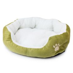 Cute Comfortable Soft Fleece Paw Print Pet Bed