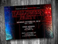 Stranger Things Halloween Party Invitation *Personalized Digital Printable* by…