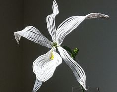 French beaded flower exotic lily bead flower by MarkingTime