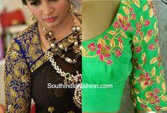 maggam work blouse for silk sarees 1 600x408 photo