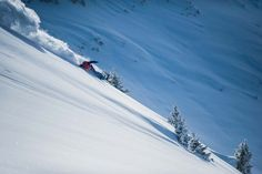 Snowboarding Steep Powder in Les Arcs © Andy Parant – Les Arcs