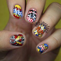 pop art nails @Lexi Martone