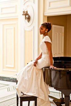 African American. Black Bride. Wedding Hair. Natural Hairstyles.