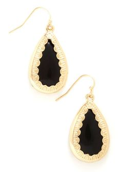 RSVPerfect Earrings in Black, #ModCloth..................If only I wore earrings!!