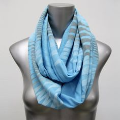 Blue Circle Scarf Blue Summer Scarf Blue Circle Scarf Gift for Boyfriend Girlfriend Gift Idea Mom Gift Burning Man Scarf Womens Blue Loop Loop Scarf, Circle Scarf, Scarf Head, Grey Scarf, Summer Scarves, Head And Neck, Cotton Scarf, Green Fashion, Festival Outfits