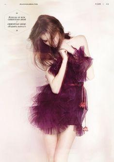plum ruffles #fashion #model