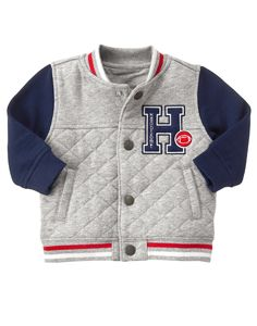 Shop our wide selection of high quality baby clothes, toddler clothing and kids apparel. Newborn Girl Outfits, Kids Outfits, Prep Boys, Varsity Jacket Outfit, Funny Baby Clothes, Babies Clothes, Babies Stuff, Stylish Boys, Kids Fashion Boy
