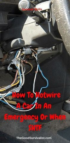 """Survival Skills-In the following video you will learn 2 different ways to hotwire a car. One is the """"screwdriver"""" method, and the second is the """"hotwire"""" method. Both could come in handy in an emergency or SHTF situation."""