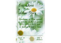 Svadobné oznámenie - SV002