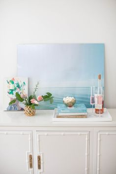 DIY oversize photo: http://www.stylemepretty.com/living/2015/09/11/bedroom-diys-to-save-on-from-the-today-show/
