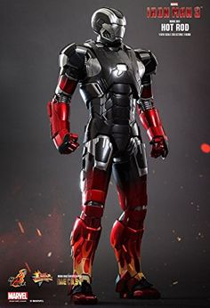 Marvel Iron Man 3 Hot Rod Armor Mark XXII Sixth Scale Exclusive Diecast Figure -- For more information, visit image link. Iron Man Avengers, Iron Man Kunst, Iron Man Art, Pop Marvel, Marvel Heroes, Captain Marvel, Marvel Avengers, Iron Men, Iron Man Wallpaper