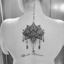 Image result for lace lotus tattoo black and white