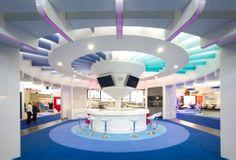 AstraZeneca exhibition stand interior ECNP @ RAI Amsterdam 10 x 10 island stand