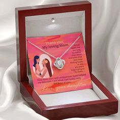 Thank You Mom Love Knot Necklace, Gift for Mom from Daughter, Mom Jewe – ShineOn.com