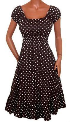 BLACK WHITE POLKA DOT DRESS   Plus Size Made in USA $44.99...Hola chilena.me gusta vestido te puedes?