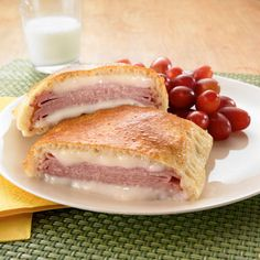 Ham & Cheese Hand Pies. Try this new twist on the traditional lunchbox standard ham and cheese sandwich. It's easy to assemble and even easier to eat.
