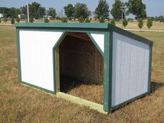perfect pig shelter, just do 2 so if some pigs fight they can just go to a different house