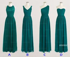 Teal Bridesmaid Dresses, affordable Bridesmaid Dresses, long Bridesmaid Dresses, customBridesmaid Dresses, CM481