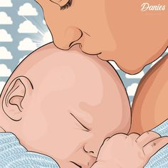 It's amazing how such a little person can turn the whole world around 👶♥ #graphics #adobe #look #my #new #illustration #amazing #digitalart #drawing #artistic #vector #love #art #instaart #cartoon #artist #artworks #creativity #family #color #blue #clouds #sky #mother #baby #sleep #newborn #mom #kiss #daily Blue Clouds, It's Amazing, Baby Sleep, Insta Art, Color Blue, Adobe, Artworks, Disney Characters, Fictional Characters