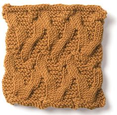 """""""Snakes in the Sand"""" Cable Stitch Pattern. Cable Knitting Patterns, Knitting Stiches, Knit Patterns, Free Knitting, Crochet Stitches, Stitch Patterns, Crochet Cable, Knit Cowl, Knitted Cowls"""
