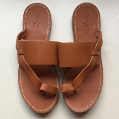 Madewell sandals Size 7.5. Made in Brazil. Very cute summer sandals. Never worn. Madewell Shoes Sandals