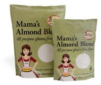 Mama's Almond Blend Flour  Perfect All-Purpose Flour that is gluten free.  Use cup for cup with any gluten free recipe.  Delightful texture, light, and non-gritty.