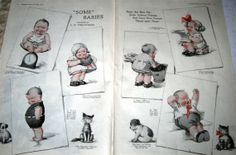 Twelvetrees postcards   1919 C. H. Twelvetrees Illustration Pages-2 Some Babies Poem ...