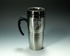 Game of Thrones Inspired  House Stark  Etched 16oz by NexusGlass, $24.50