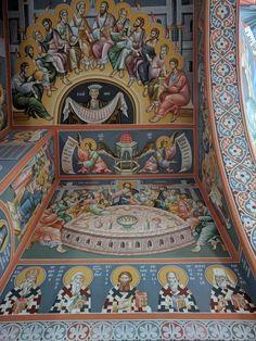 Church Interior, Byzantine Icons, Cathedral Church, Orthodox Icons, Cristiano, Renaissance Art, Fresco, Style Icons, Worship