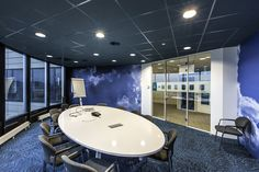 Acoustic ceiling ROCKFON (Color-all Antracite) KLM Schiphol
