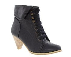 Image for Lace Up Heeled Ankle Boots