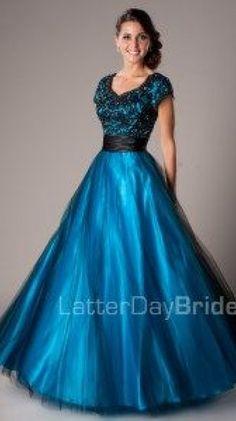 Modest Prom Dresses : Blake -Modest Mormon LDS Prom Dress