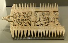 British Museum, London Ivory comb, probably England or Wales, 1080-1100