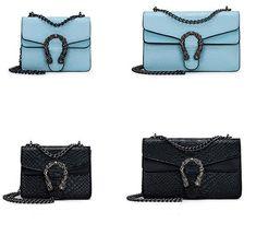 2bfadf974240 Для женщин сумка 2018 версия небольшой площади новая сумка Мода Змея  тиснением сумка цепи сумка купить